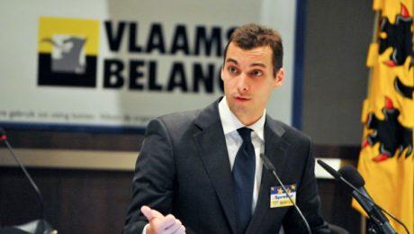Thierry Baudet bij een bijeenkomst van Vlaams Belang november 2012